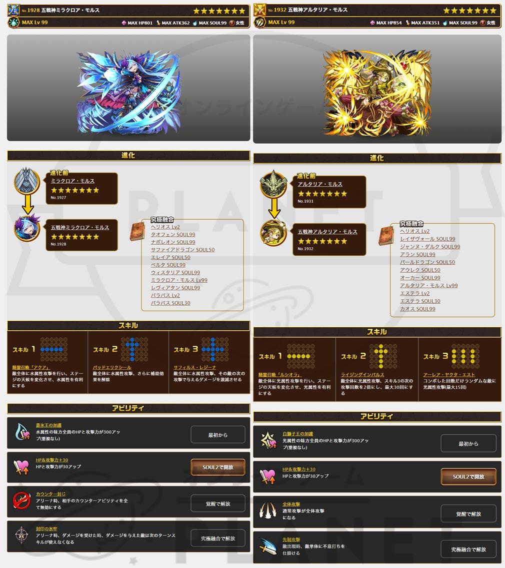 エレメンタルストーリー(エレスト) PC 五戦神ミラクロア・モルス、五戦神アルタリア・モルス