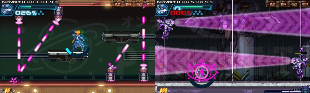 蒼き雷霆(アームドブルー)ガンヴォルト PC トラップ、ギミック
