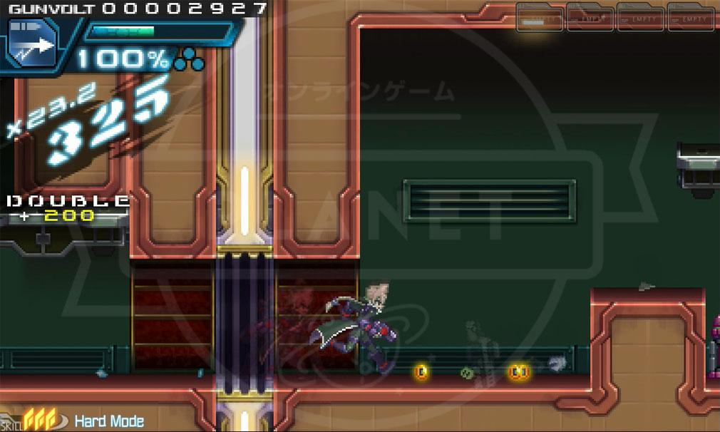蒼き雷霆(アームドブルー)ガンヴォルト PC ハードモードバトルスクリーンショット