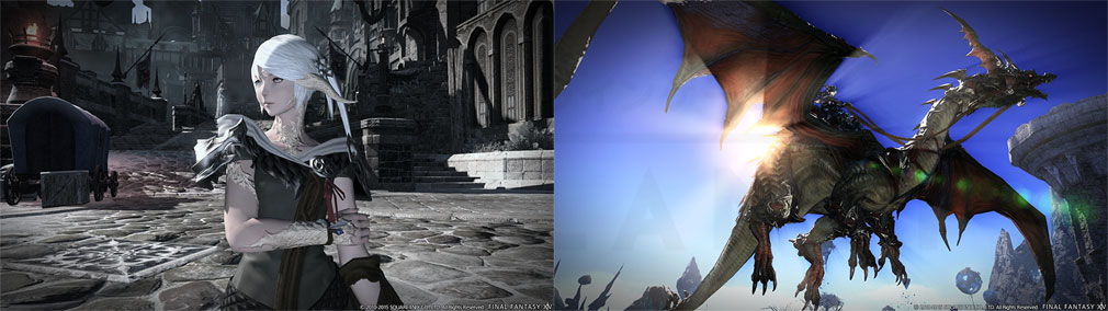 ファイナルファンタジー14(FF14)オンライン PC 登場種族、騎乗ドラゴンスクリーンショット