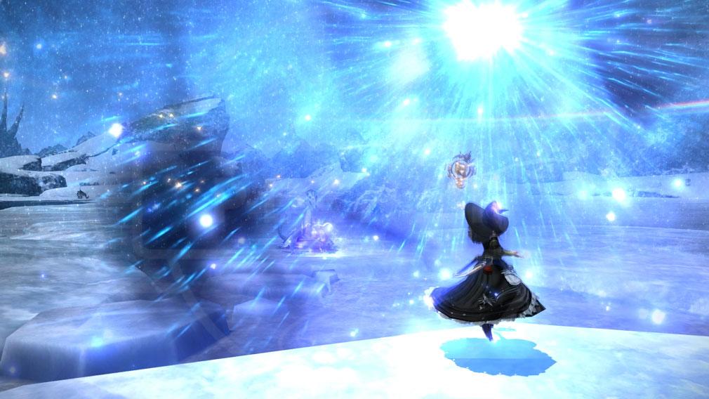ファイナルファンタジー14(FF14)オンライン PC 魔法スキル発動グラフィックススクリーンショット
