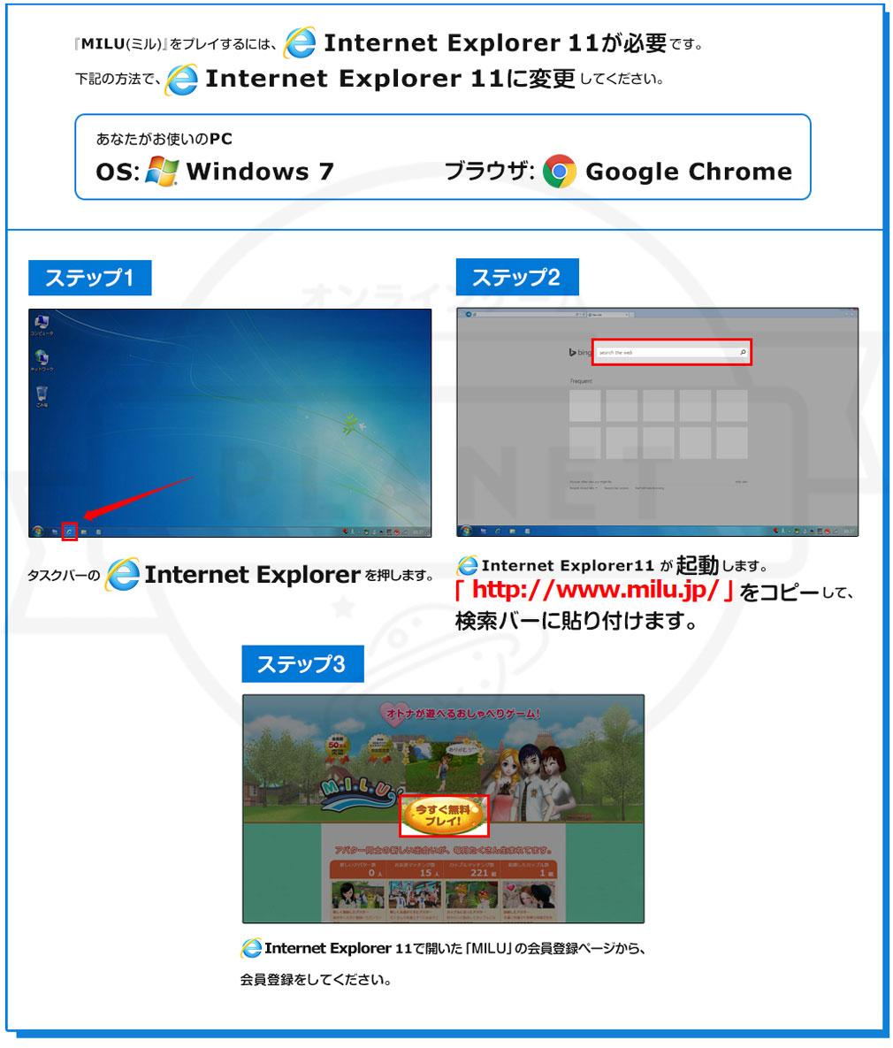 MILU(ミル) PC プレイ方法