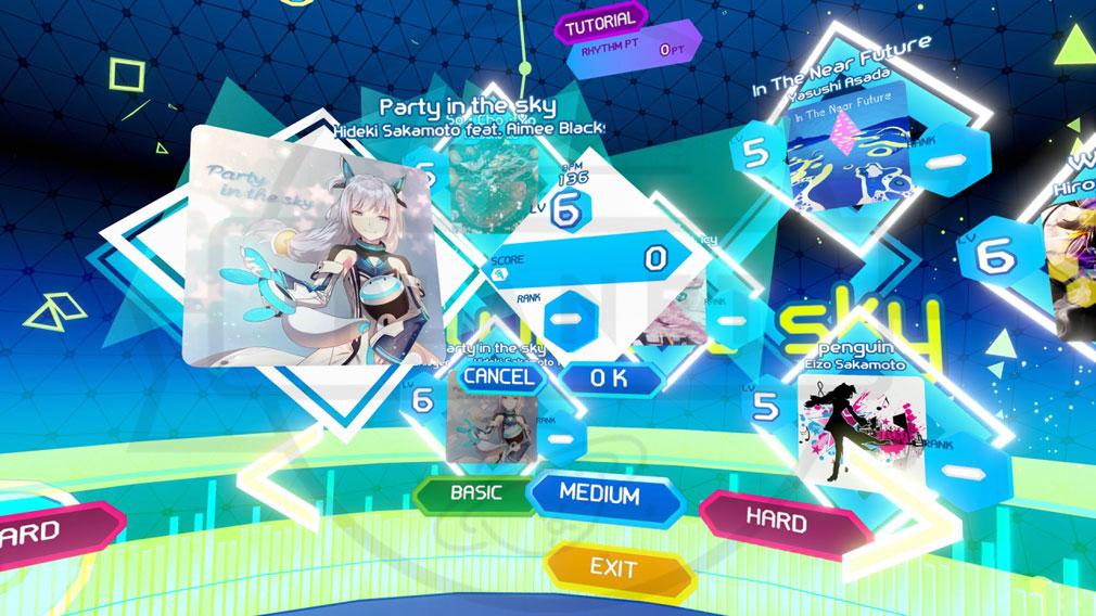 Airtone(エアトーン) PC ゲームモード選択画面