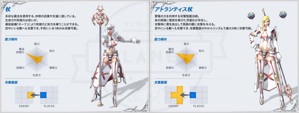 アトランティカ(Atlantica) 主人公キャラクター【魔法系武器:杖、アトランティス杖】