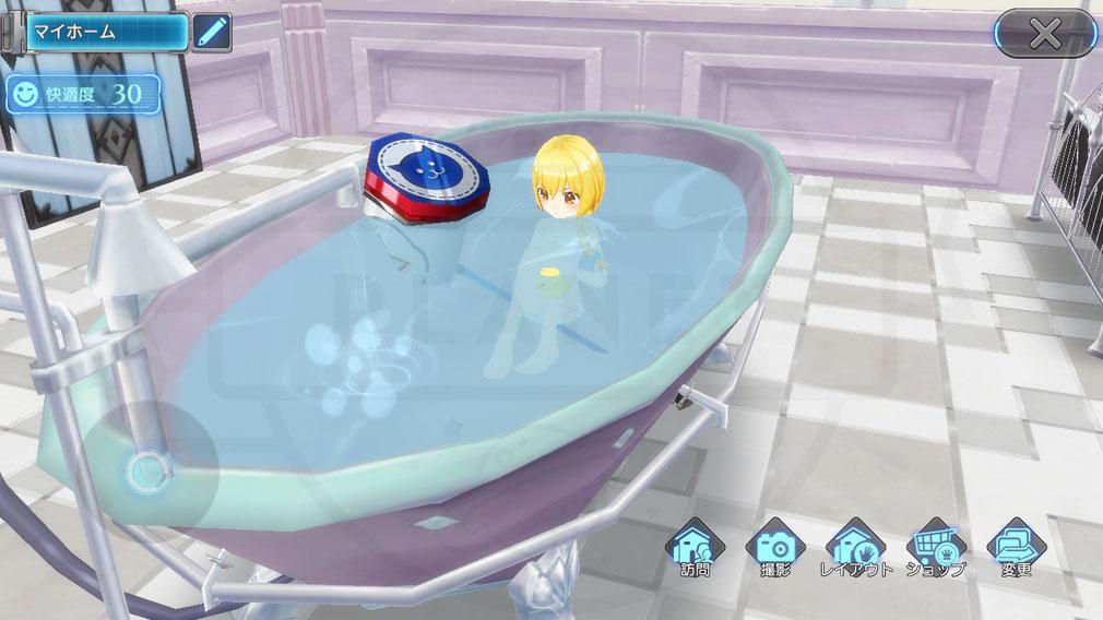 叛逆性ミリオンアーサー(はんぎゃくせいMA) ハウジング内のお風呂スクリーンショット