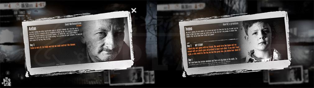 This War of Mine(ディスウォーオブマイン)TWoM PC 特徴を持つキャラクター