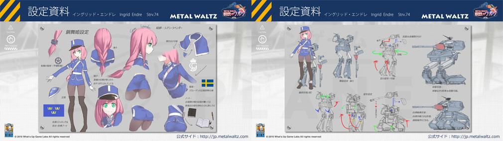 鋼鉄のワルツ(MetalWaltz) PC 戦車娘設定資料詳細