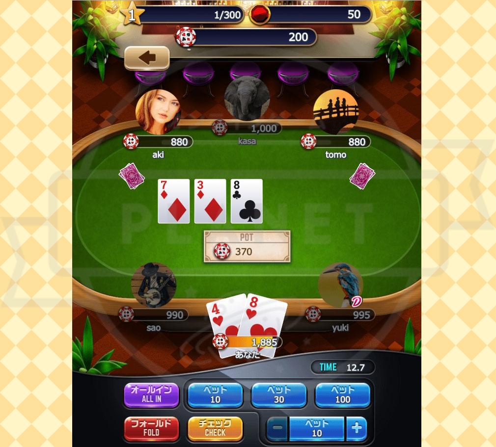 ポーカーパーティ PC プレイ画面