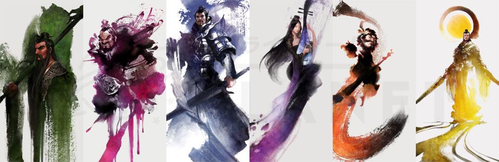 三国志を抱く PC キャラクターアートワーク
