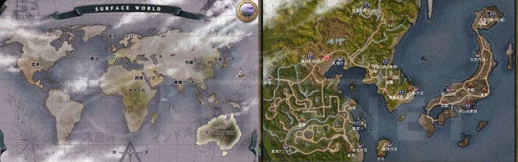 アトランティカ(Atlantica) ワールドマップ