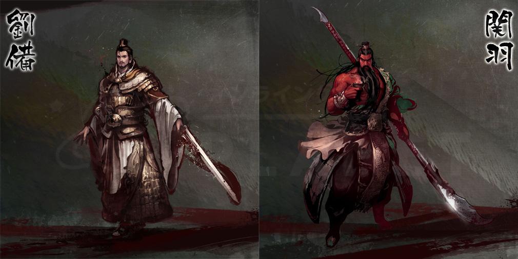 三国志を抱く PC 劉備、関羽