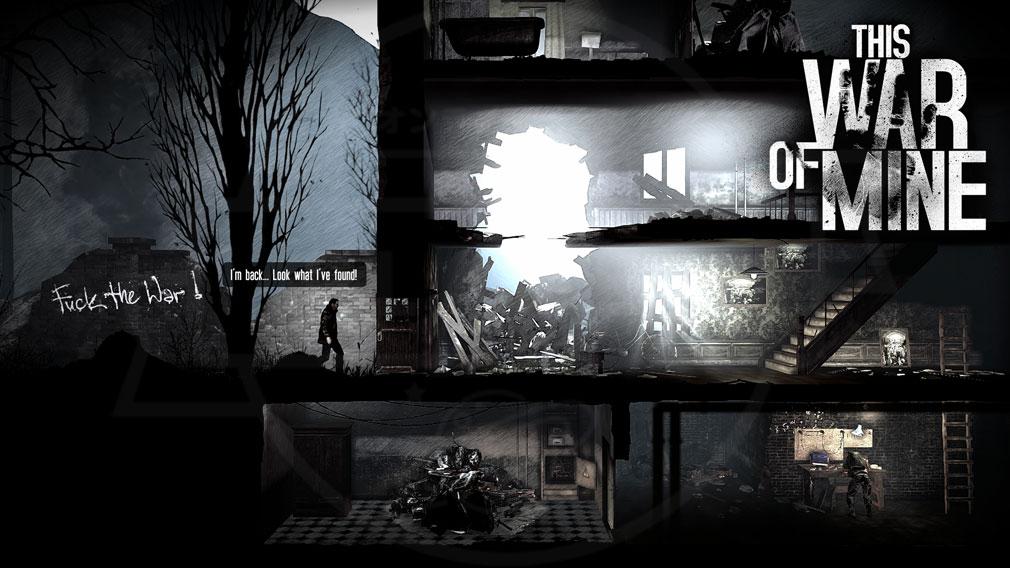 This War of Mine(ディスウォーオブマイン)TWoM PC 夜間の物資調達スクリーンショット