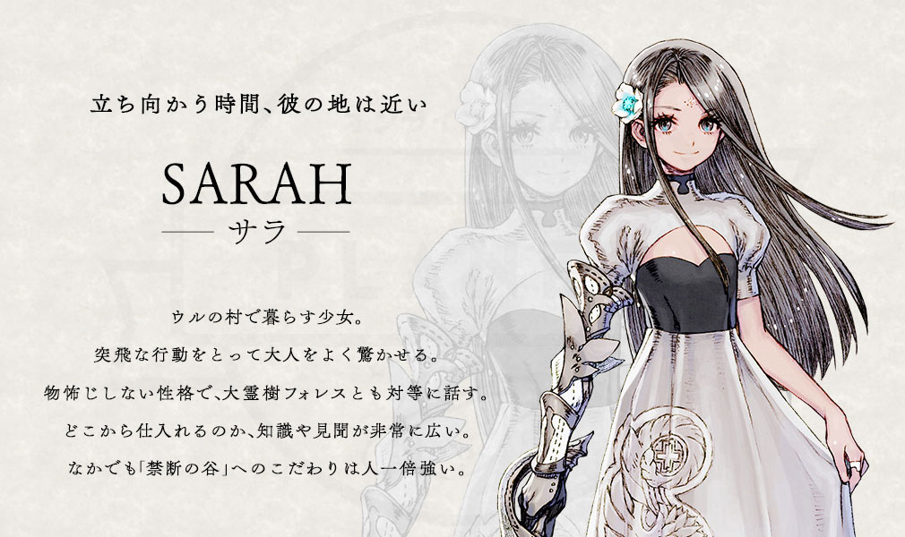 TERRA BATTLE2 (テラバトル2) PC キャラクター【サラ】