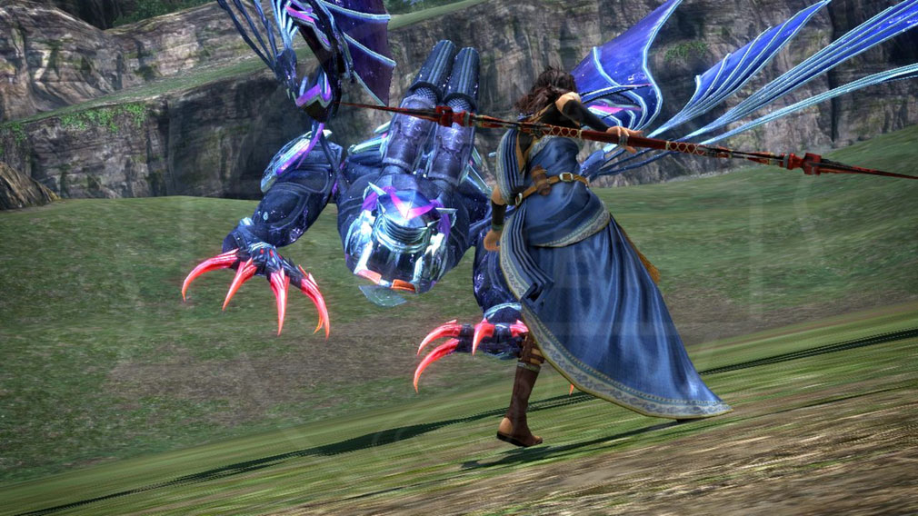 PCブラウザ版 ファイナルファンタジー13(FF13) 召喚獣バトルスクリーンショット