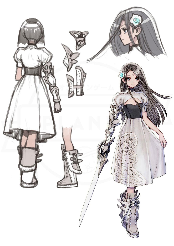 TERRA BATTLE2 (テラバトル2) PC 藤坂 公彦 氏の主人公『サラ』設定画