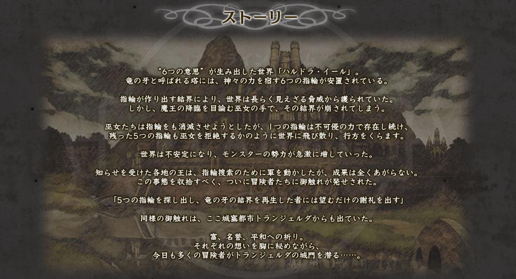 エルミナージュORIGINAL ~闇の巫女と神々の指輪~ PC 物語