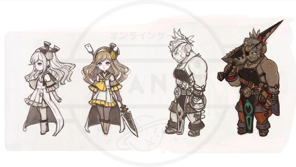 テラウォーズ(TERRA WARS)PC キャラクターデザイン