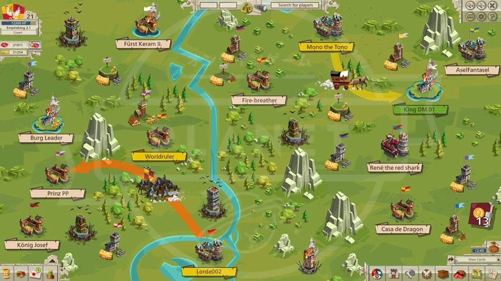 GOODGAME EMPIRE(グッドゲーム エンパイア) PC 敵地への侵攻マップ
