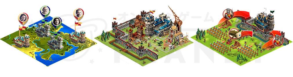 GOODGAME EMPIRE(グッドゲーム エンパイア) PC 自国建設要素、戦略要素、マルチ要素のメインシステム3基軸