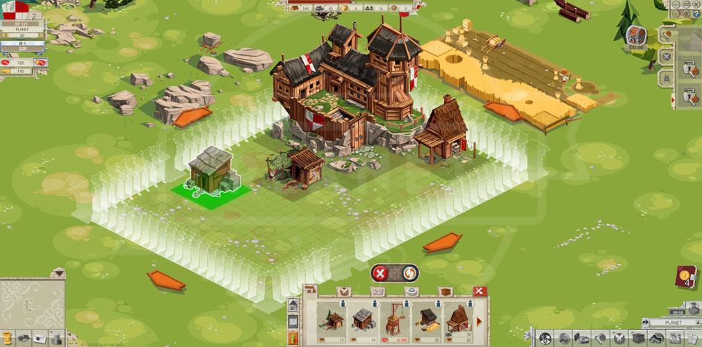 GOODGAME EMPIRE(グッドゲーム エンパイア) PC 施設を建設場所を選択しているスクリーンショット