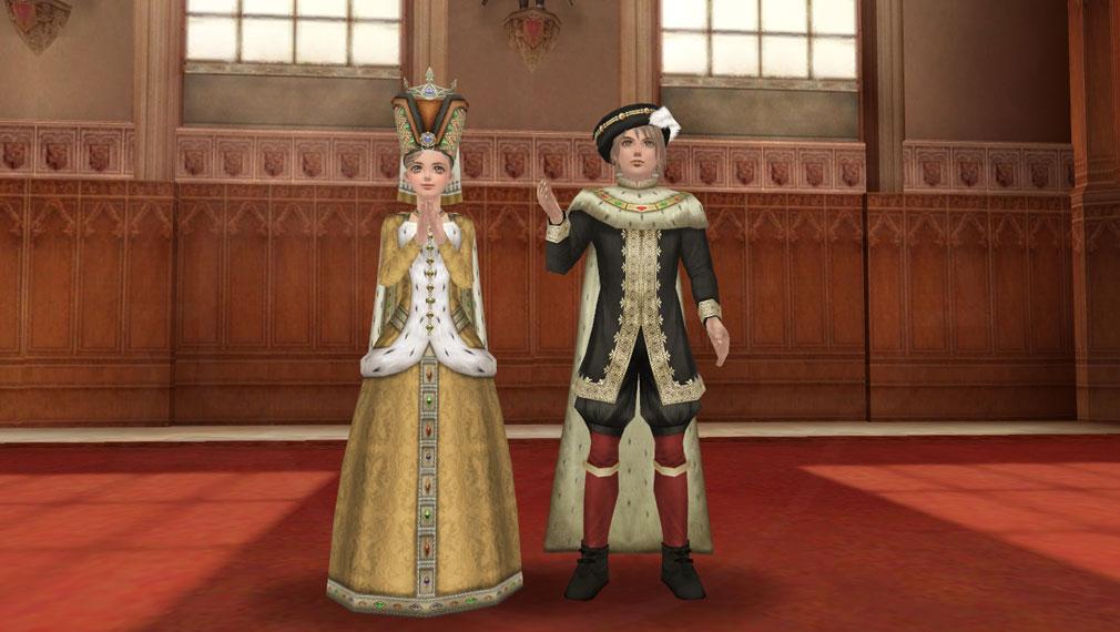 大航海時代 Online Order of the Prince(オーダー オブ ザ プリンス) 新装備ノーブルドレス(体装備)/ノーブルコロネット(頭装備)とノーブルガウン(体装備)/ノーブルハット(頭装備)