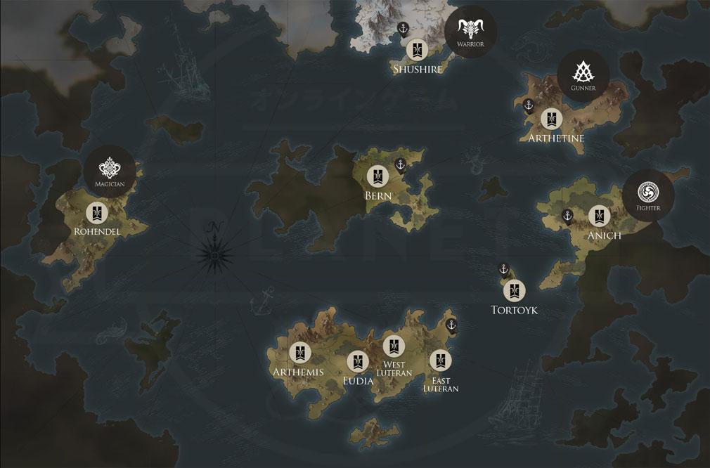 LOSTARK(ロストアーク) ワールドマップ