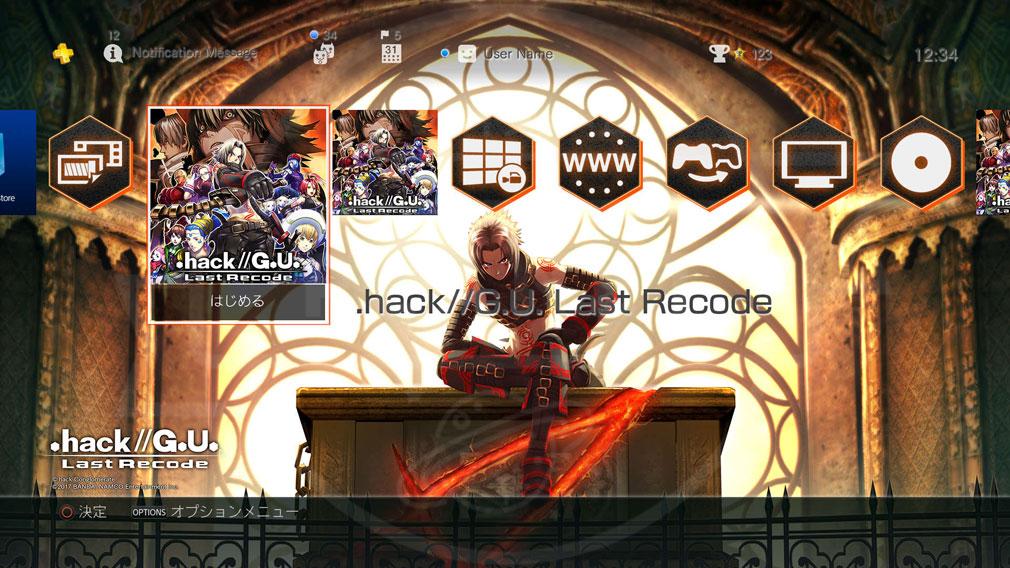 .hack//G.U. Last Recode (ドットハック) PS4テーマ