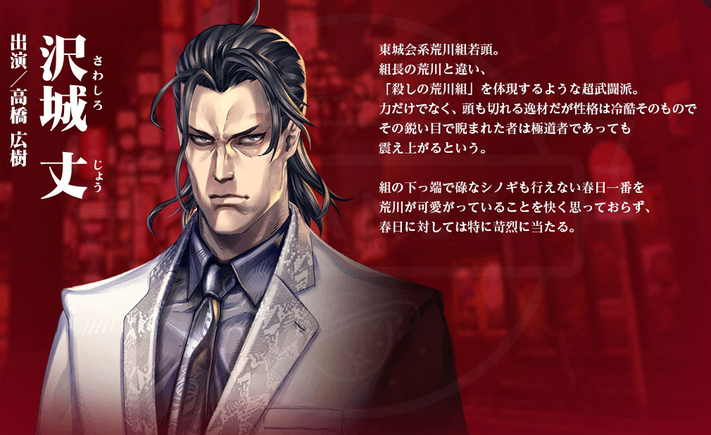 龍が如く ONLINE(オンライン) PC キャラクター『沢城 丈』イメージ