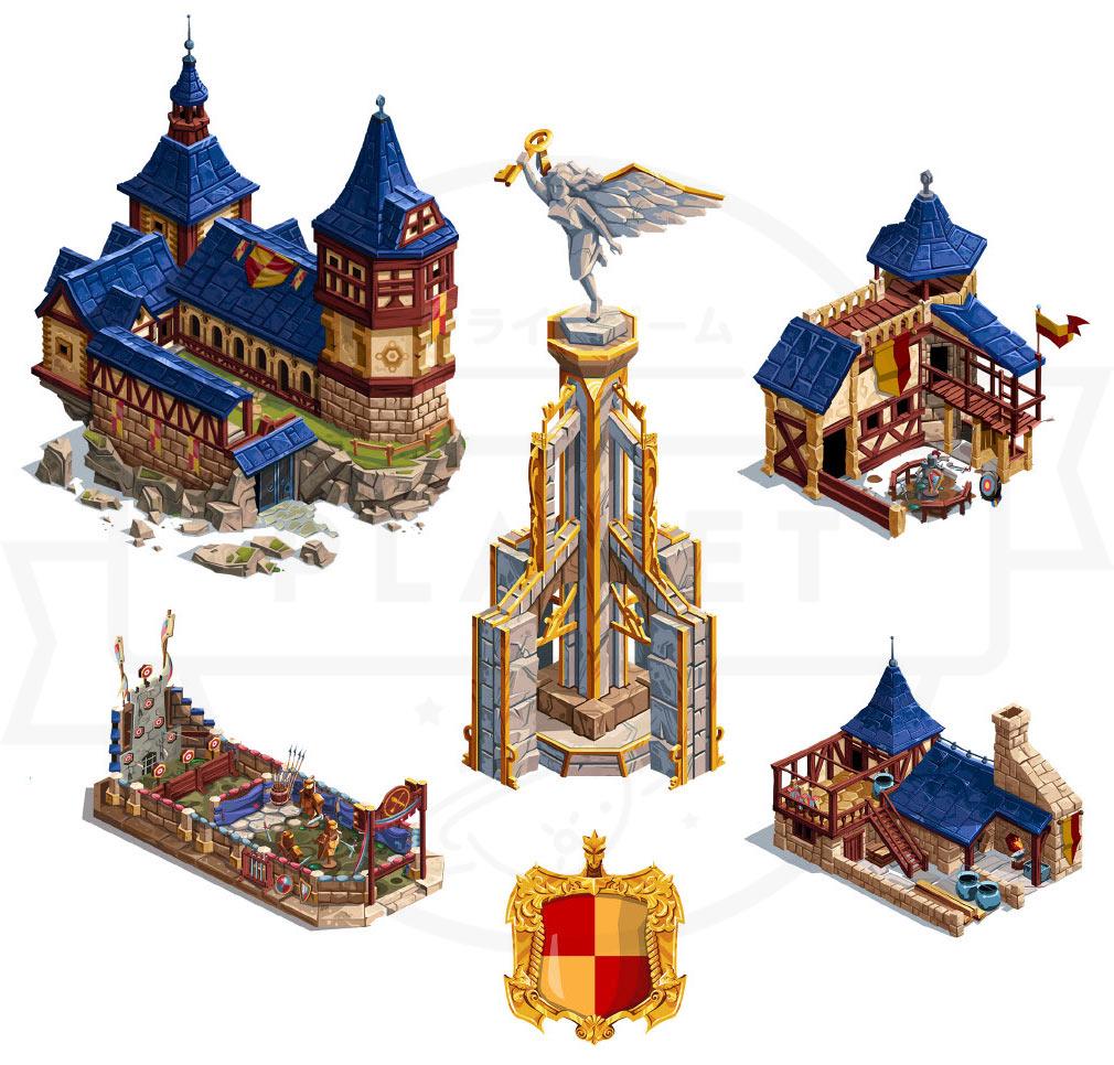 GOODGAME EMPIRE(グッドゲーム エンパイア) PC 60以上の異なる建設物のイラスト