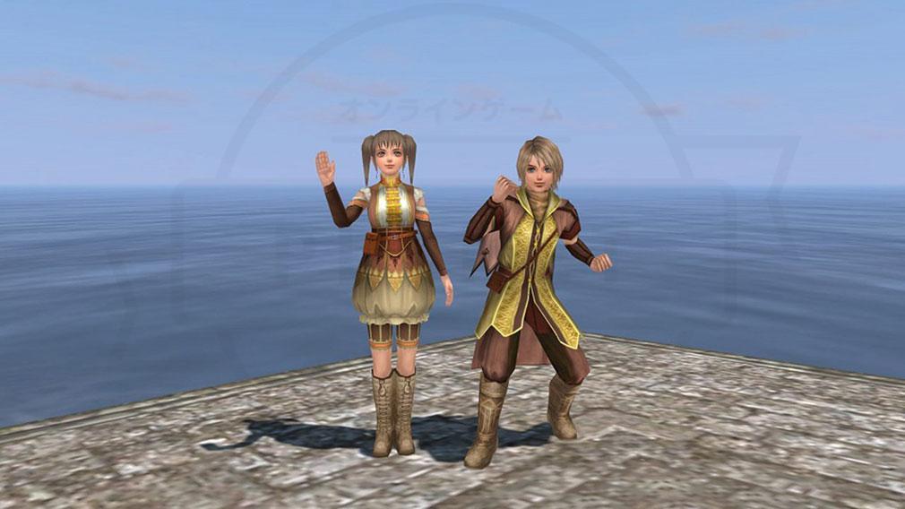 大航海時代 Online 港にいるキャラクターのエモーションスクリーンショット