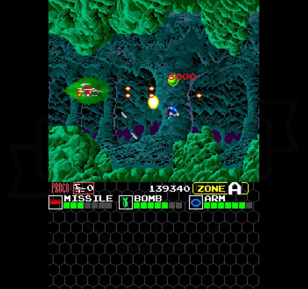 DARIUS THE ORIGIN(ダライアス ジ オリジン) スタンダードモードプレイ画面