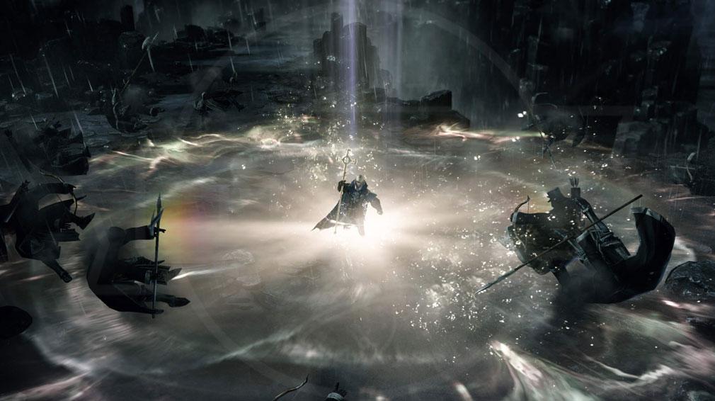 LOSTARK(ロストアーク) 【残された風の崖】でキャラを操作して神聖な光を爆発させているスクリーンショット