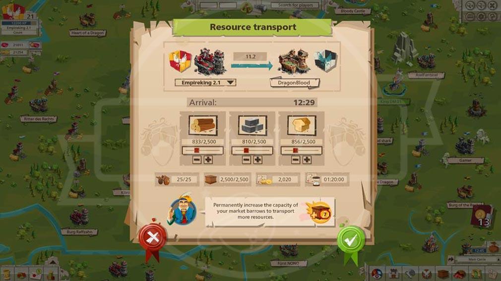 GOODGAME EMPIRE(グッドゲーム エンパイア) PC 建設物の強化、グレードアップ画面