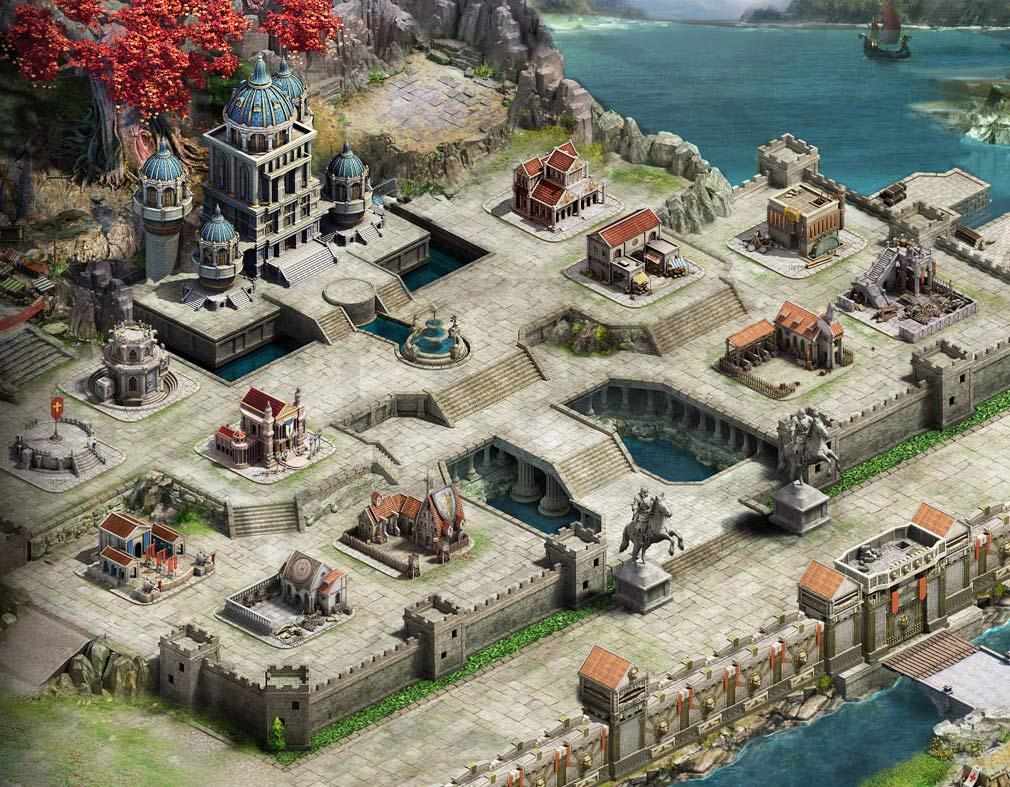 クラッシュオブキングス(キングス CoK) PC 自城となる自拠点のワイド版グラフィックス