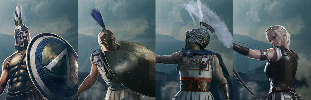 Total War ARENA(TWA) ギリシア(Greek)勢力に属する英雄レオニダス王、ミルティアデス、アレクサンドロス大王、キュナネ