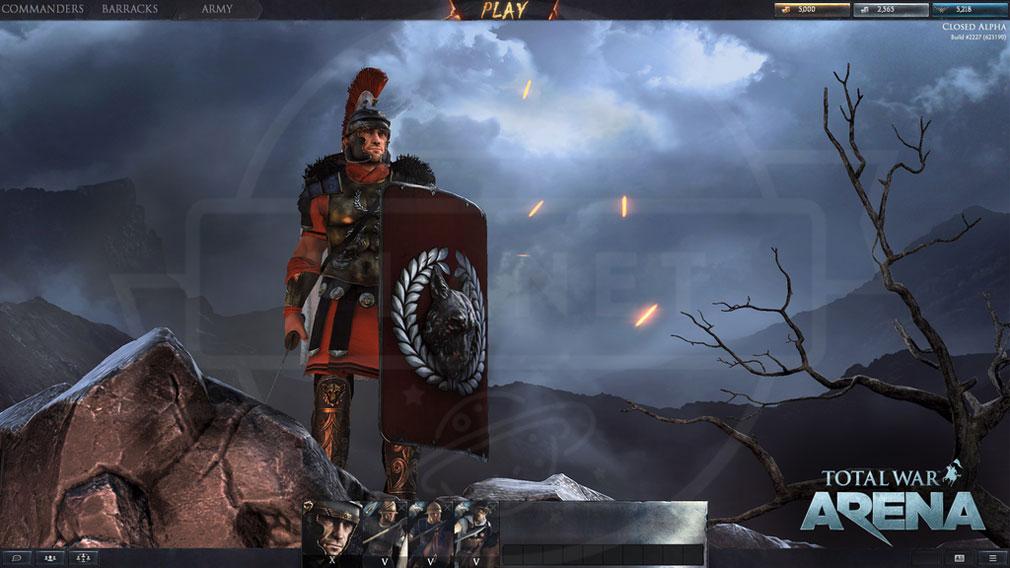 Total War ARENA(TWA) 英雄選択後のプレイ開始画面スクリーンショット