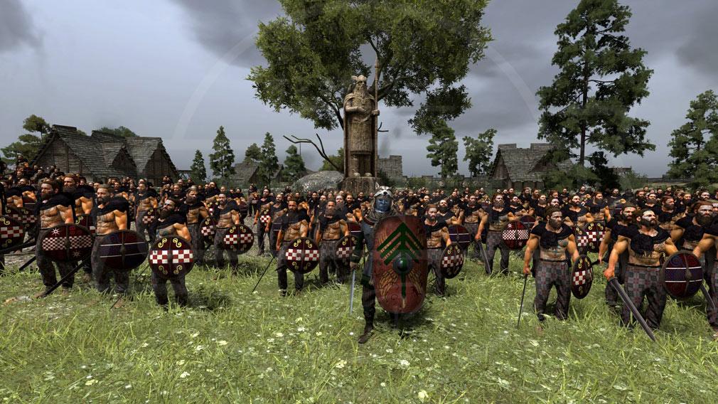 Total War ARENA(TWA) 蛮族/バーバリアンの歩兵軍勢/ユニットスクリーンショット