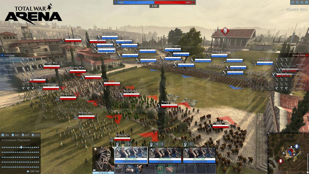 Total War ARENA(TWA) ローマ対ギリシアのバトル開始前スクリーンショット