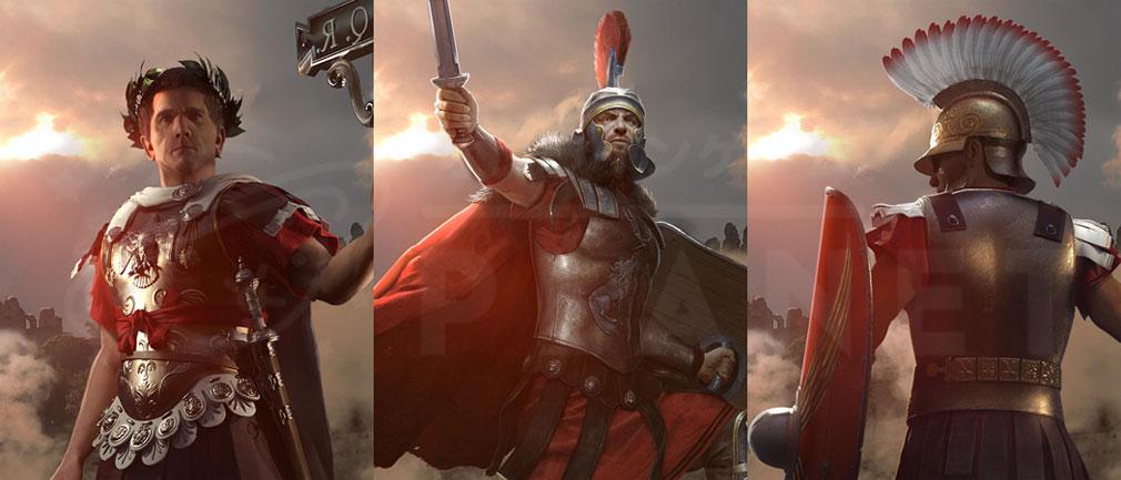 Total War ARENA(TWA) ローマ(Roma)勢力に属する英雄ユリウス・カエサル、ゲルマニクス、スキピオ・アフリカヌス