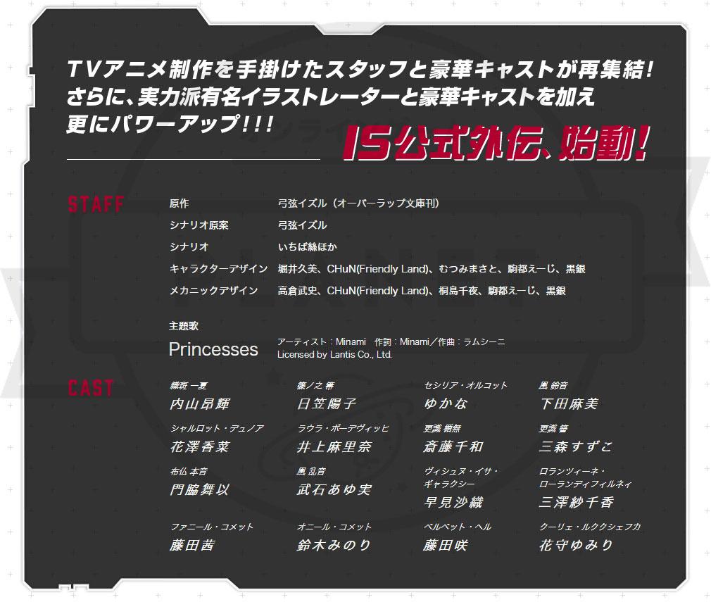 IS<インフィニット・ストラトス>アーキタイプ ブレイカー(ISAB アキブレ) PC 制作スタッフ、出演キャスト
