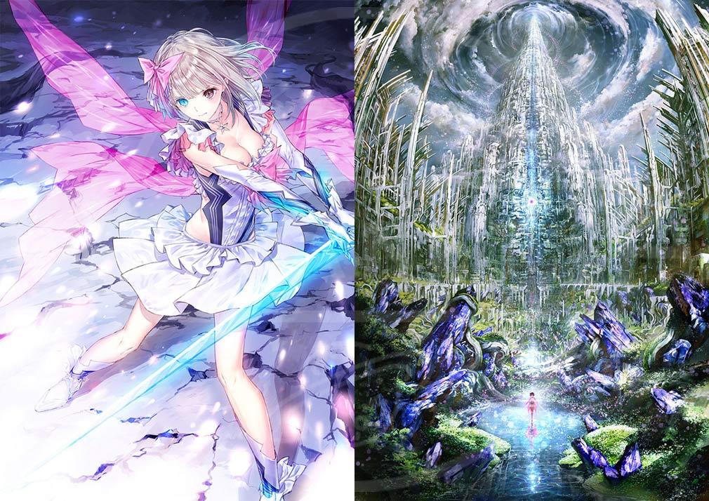 BLUE REFLECTION(ブルーリフレクション) 幻に舞う少女の剣 PC バトル、世界観アートワーク