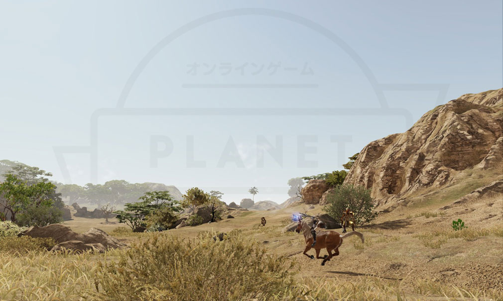 BLESS(ブレス) 日本 CBT2フィールドを騎乗でかけるスクリーンショット