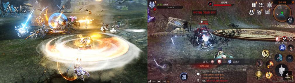 AxE Alliance X Empire(アックス) スキル発動、対人バトルスクリーンショット