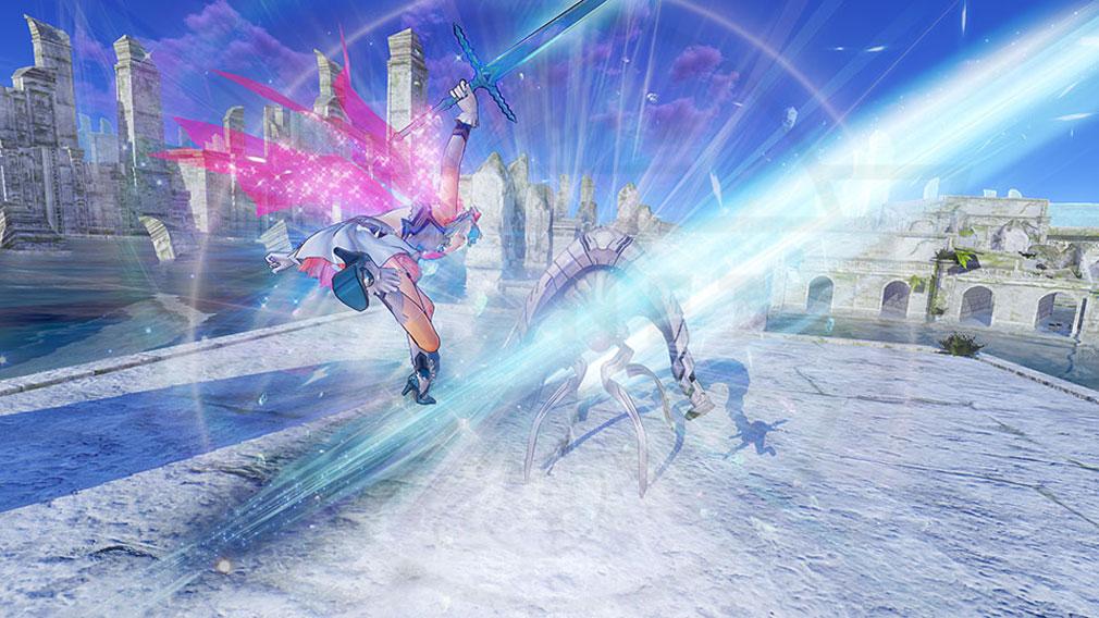 BLUE REFLECTION(ブルーリフレクション) 幻に舞う少女の剣 PC 『原種』と呼ばれる魔物とのバトルスクリーンショット