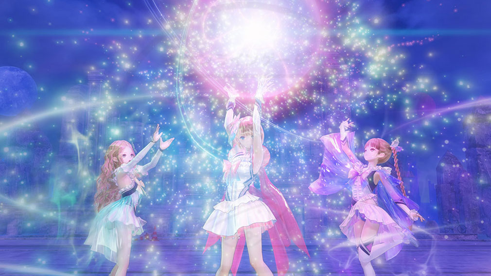 BLUE REFLECTION(ブルーリフレクション) 幻に舞う少女の剣 PC 3人の連係スキルスクリーンショット