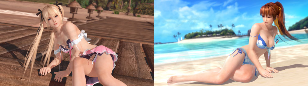DEAD OR ALIVE Xtreme Venus Vacation (DOAX ブイブイ) PC 『ローズ・マリー』、『かすみ』セクシーショットのスクリーンショット