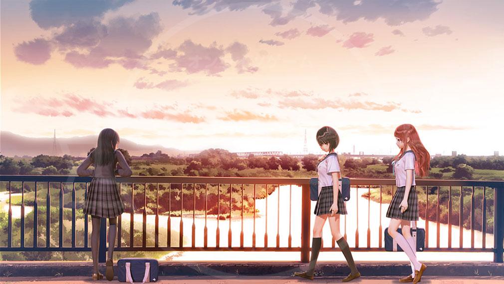 BLUE REFLECTION(ブルーリフレクション) 幻に舞う少女の剣 PC 放課後のコミュニケーションスクリーンショット