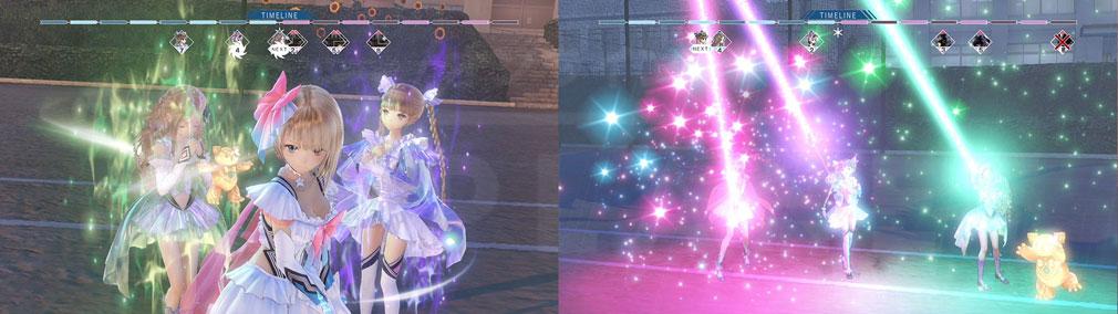 BLUE REFLECTION(ブルーリフレクション) 幻に舞う少女の剣 PC 『日菜子』、『夕月』、『来夢』で行う連係スキルスクリーンショット
