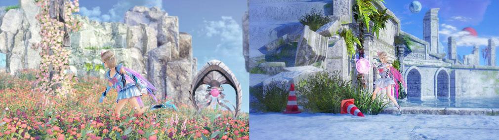 BLUE REFLECTION(ブルーリフレクション) 幻に舞う少女の剣 PC 異世界でのアイテム探索スクリーンショット