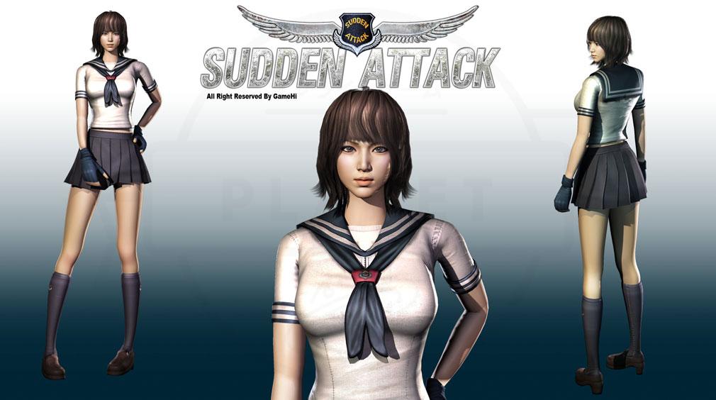 サドンアタック(SUDDEN ATTACK) SA1 セーラー服女子高生アバターキャラクターイメージ